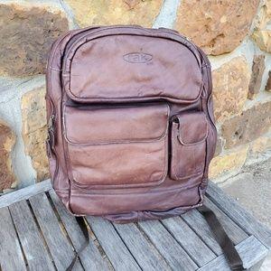 Rak Gear leather backpack Brown distressed 5pocket